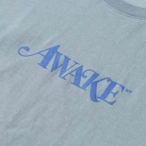 Awake Classic Logo Tee Washed Blue 1
