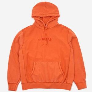 Awake Embroidered Logo Hoodie Red Orange