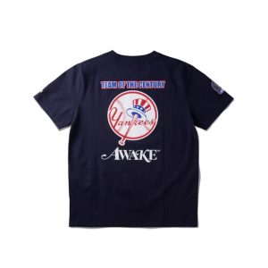 Awake Subway Series Yankees T shirt Navy 1.3