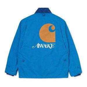 Awake x Carhartt WIP Michigan Chore Coat Blue 1.1