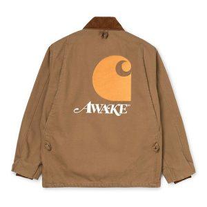 Awake x Carhartt WIP Michigan Chore Coat Brown 1