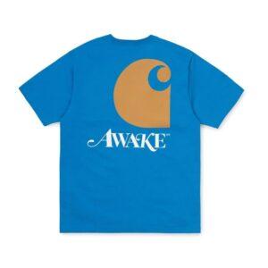 Awake x Carhartt WIP T Shirt Blue 1