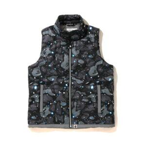BAPE Space Camo Down Vest Black