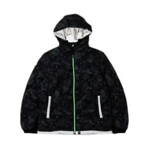 BAPE Space Camo Hoodie Down Jacket Black 1 1