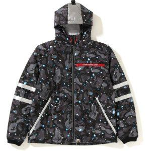 BAPE Space Camo Hoodie Jacket Black