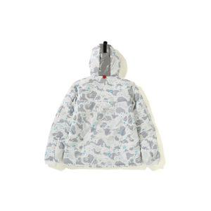 BAPE Space Camo Hoodie Jacket White 1