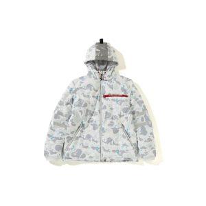 BAPE Space Camo Hoodie Jacket White