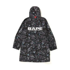 BAPE Space Camo Long Hoodie Jacket Black 1