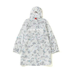 BAPE Space Camo Long Hoodie Jacket White 1