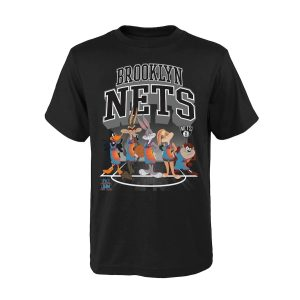 Brooklyn Nets Tunes On Court T Shirt Youth