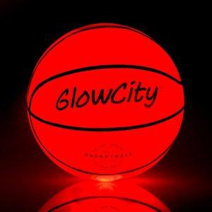 GlowCity Hi Bright LED Light Up Illuminate Entire Dark Mini Basketball 1