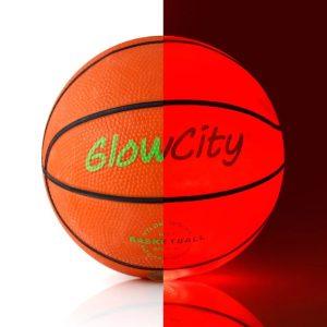 GlowCity Hi Bright LED Light Up Illuminate Entire Dark Mini Basketball