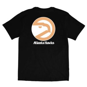 Mitchell Ness Atlanta Hawks Retro Repeat Hawk Logo NBA T Shirt 1