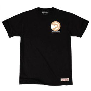 Mitchell Ness Atlanta Hawks Retro Repeat Hawk Logo NBA T Shirt