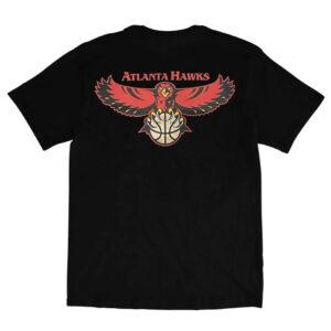 Mitchell Ness Atlanta Hawks Retro Repeat Logo NBA T Shirt 1