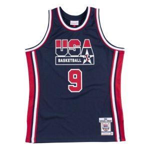 Mitchell Ness Michael Jordan 1992 Olympics Dream Team USA Hardwood Classics Throwback Authentic Jersey Navy