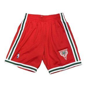 Mitchell Ness Milwaukee Bucks Hardwood Classics Throwback Swingman NBA Shorts