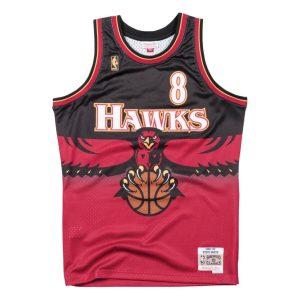 Mitchell Ness Steve Smith Atlanta Hawks Hardwood Classics Throwback NBA Swingman Jersey
