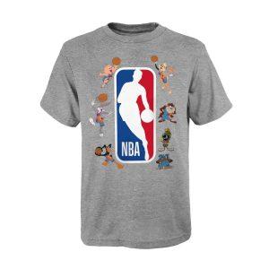 NBA Space Jam Squad Up NBA Logoman T Shirt Youth
