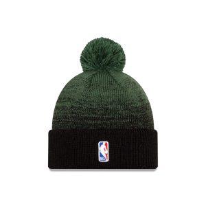 New Era Milwaukee Bucks Back Half Edition Pom Knit NBA Beanie 1