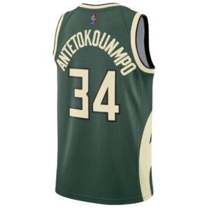 Nike Giannis Antetokounmpo Milwaukee Bucks 2021 Earned Edition NBA Swingman Jersey 1