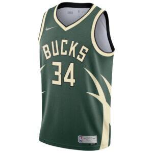 Nike Giannis Antetokounmpo Milwaukee Bucks 2021 Earned Edition NBA Swingman Jersey