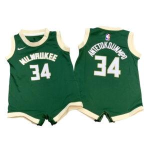 Nike Giannis Antetokounmpo Milwaukee Bucks 2021 Icon Edition Infant NBA Jersey Onesie