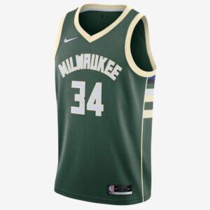 Nike Giannis Antetokounmpo Milwaukee Bucks 2021 Icon Edition NBA Swingman Jersey 1