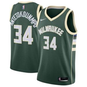 Nike Giannis Antetokounmpo Milwaukee Bucks 2021 Icon Edition NBA Swingman Jersey