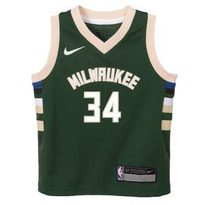 Nike Giannis Antetokounmpo Milwaukee Bucks 2021 Icon Edition Toddler NBA Jersey 1