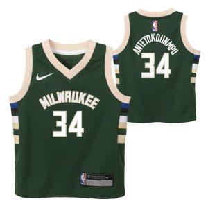 Nike Giannis Antetokounmpo Milwaukee Bucks 2021 Icon Edition Toddler NBA Jersey