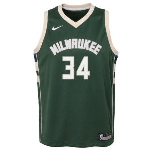 Nike Giannis Antetokounmpo Milwaukee Bucks 2021 Icon Edition Youth NBA Swingman Jersey 1