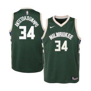 Nike Giannis Antetokounmpo Milwaukee Bucks 2021 Icon Edition Youth NBA Swingman Jersey