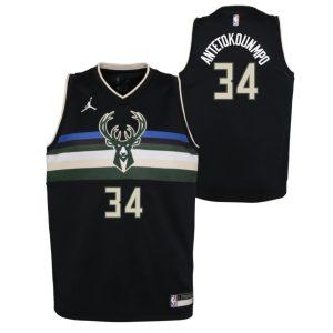 Nike Giannis Antetokounmpo Milwaukee Bucks 2021 Statement Edition Boys NBA Jersey