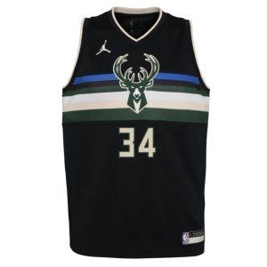Nike Giannis Antetokounmpo Milwaukee Bucks 2021 Statement Edition Youth NBA Swingman Jersey 1