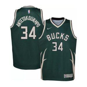 Nike Giannis Antetokounmpo Milwaukee Bucks Earned Edition Youth NBA Swingman Jersey