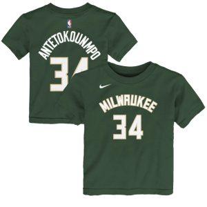Nike Giannis Antetokounmpo Milwaukee Bucks Icon Edition Boys NBA T Shirt