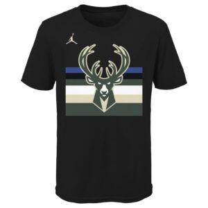Nike Milwaukee Bucks Essential Statement Edition Wordmark Youth Dri Fit NBA T Shirt