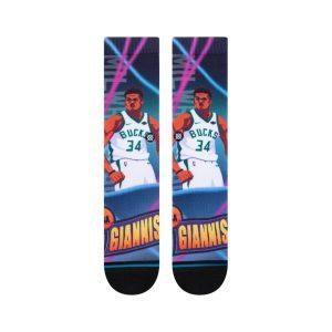 Stance Giannis Antetokounmpo Milwaukee Bucks Fast Break NBA Socks 1