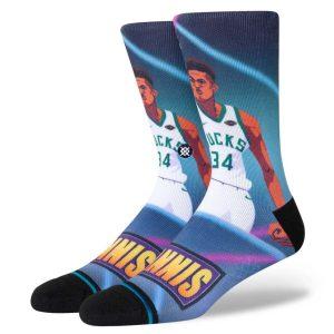 Stance Giannis Antetokounmpo Milwaukee Bucks Fast Break NBA Socks