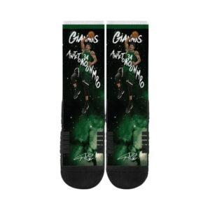 Strideline Giannis Antetokounmpo Milwaukee Bucks Premium Full Sub Socks 1
