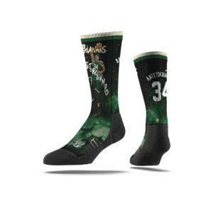 Strideline Giannis Antetokounmpo Milwaukee Bucks Premium Full Sub Socks