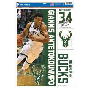 Wincraft Giannis Antetokounmpo Milwaukee Bucks Decal 11 x 17 Stickers