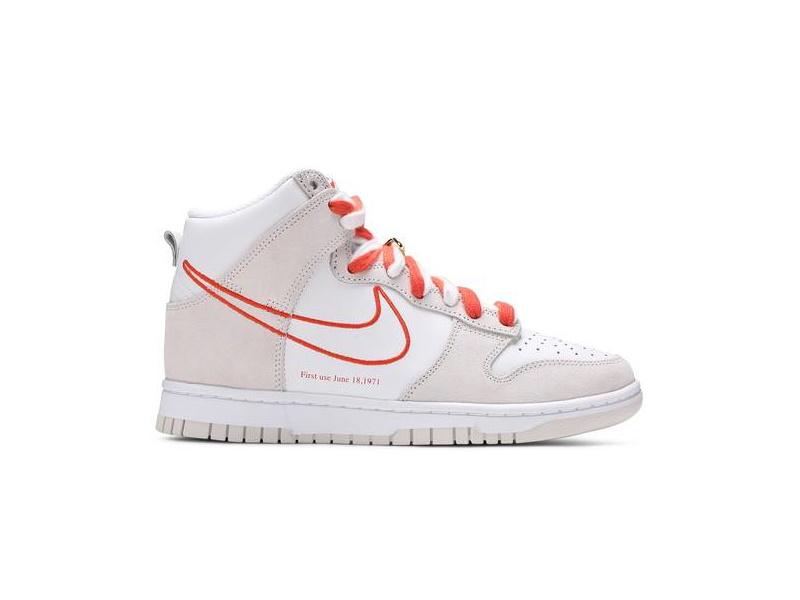 Wmns Nike Dunk High First Use White Sail Orange