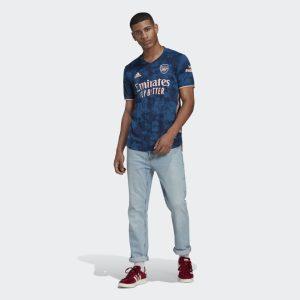 adidas Arsenal 2021 Authentic Third Shirt Jersey Blue 1