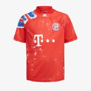 adidas FC Bayern Human Race Kids Jersey True RedWhite