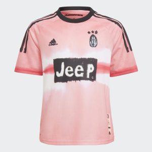 adidas Juventus Human Race Kids Jersey Glow PinkBlack