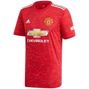 adidas Manchester United Home Shirt 2020 21 with Pogba 6 printing Jersey Red