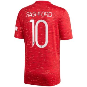 adidas Manchester United Home Shirt 2020 21 with Rashford 10 printing Jersey Red 1