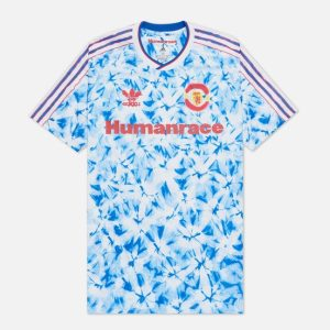 adidas Manchester United Human Race Jersey WhiteBold Blue